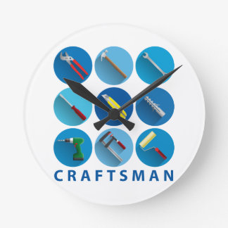 craftsman round clock