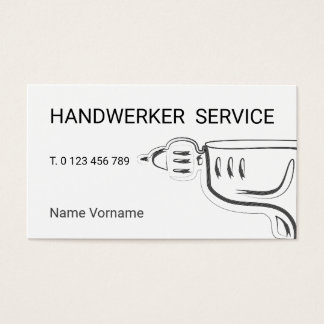 craftsman service business card