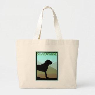 Craftsman Style Bloodhound Dog Large Tote Bag