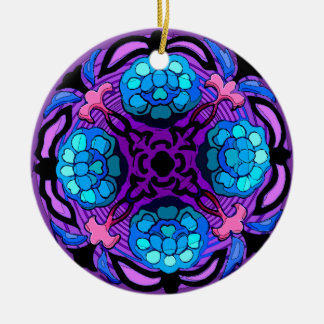 Craftsman Winter Garden Ceramic Fan Pull Orname Christmas Tree Ornaments