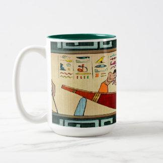 Craftsmanship Egyptian Folk Art Two-Tone Coffee Mug