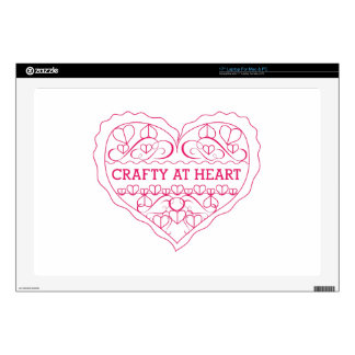 """Crafty At Heart 17"""" Laptop Decal"""