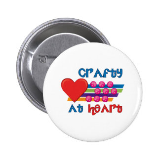 Crafty At Heart Button