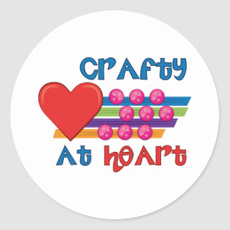 Crafty At Heart Classic Round Sticker