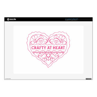 Crafty At Heart Decal For Laptop