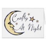 Crafty at Night Card