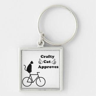 Crafty Cat Bike Keychain