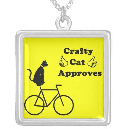 Crafty Cat Bike Necklace
