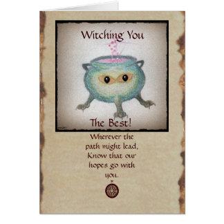 Crafty Cauldron Good Luck Card