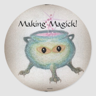 Crafty Cauldron Classic Round Sticker