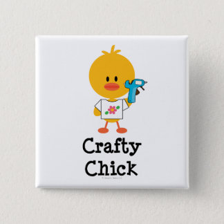 Crafty Chick Button