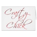Crafty Chick Greeting Card