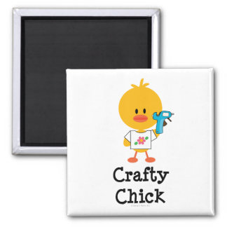 Crafty Chick Magnet