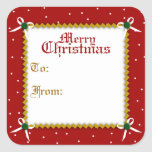 """Crafty Christmas Gift Tag Sticker<br><div class=""""desc"""">The perfect little peel and stick addition to your Christmas gift wrapping. Please take note: due to the glossy finish on these great stickers,  we suggest using a Sharpie marker when writing on them,  instead of a ballpoint pen.</div>"""