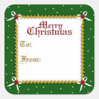 Crafty Christmas Gift Tag Sticker