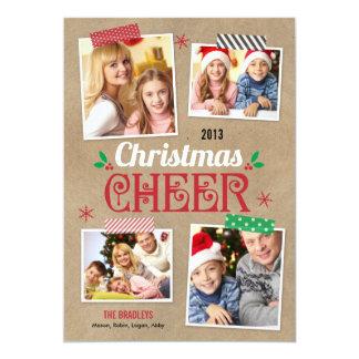 Crafty Christmas Holiday Photo Card Custom Invitation