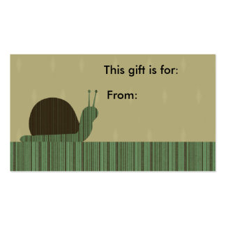 Crafty Cute Snail Gift Card Double-Sided Standard Business Cards (Pack Of 100)