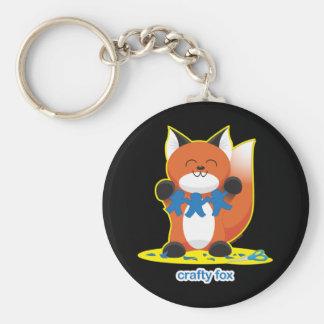 Crafty Fox Basic Round Button Keychain