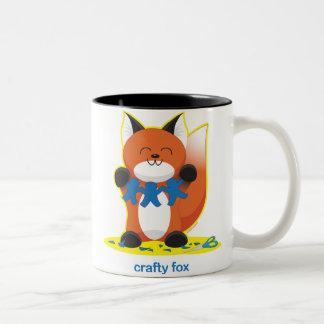 Crafty Fox Two-Tone Coffee Mug