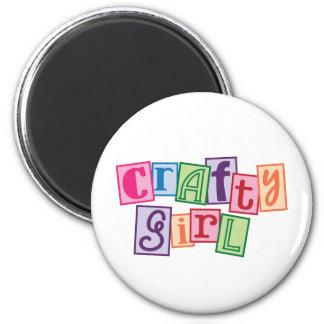 Crafty Girl 2 Inch Round Magnet