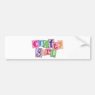 Crafty Girl Bumper Sticker