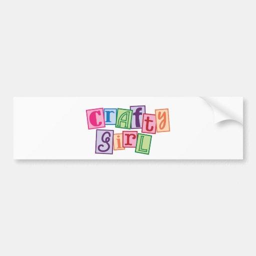 Crafty Girl Bumper Stickers