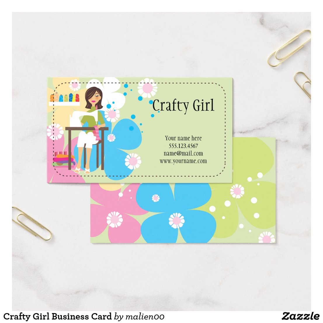 Crafty Girl Business Card
