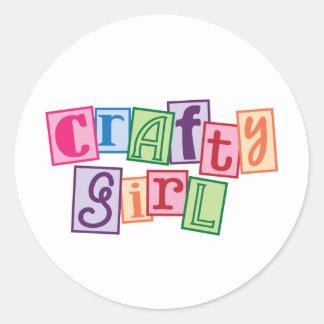 Crafty Girl Classic Round Sticker