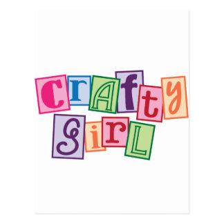 Crafty Girl Postcard