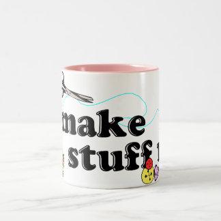 Crafty - I Make Stuff Up Two-Tone Coffee Mug