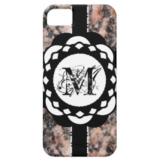 Crafty Paper Monogram Ribbons iPhone SE/5/5s Case