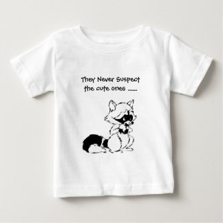 Crafty Raccoon Never Suspect the Cute Ones Tee Shirt