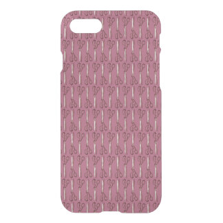 Crafty Scissors on Light Plum iPhone 7 Case