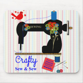 Crafty Sew And Sew Vintage Sewing Machine Mouse Pad