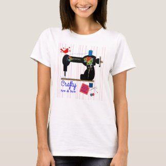 Crafty Sew And Sew Vintage Sewing Machine T-Shirt