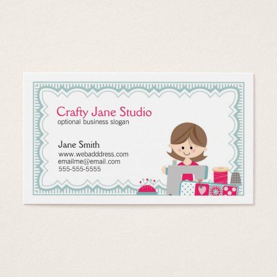 Crafty sewing business card design zazzle crafty sewing business card design colourmoves