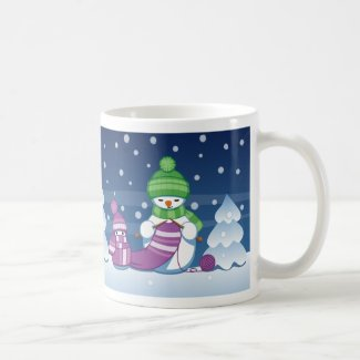 Crafty Snowman Mug
