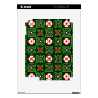 Crafty Textile Pattern Decals For iPad 2