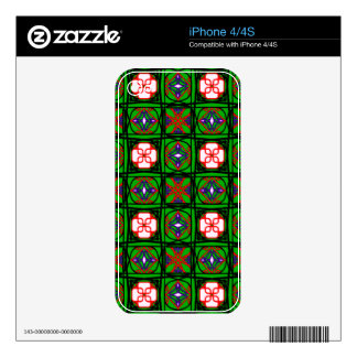 Crafty Textile Pattern iPhone 4S Skins