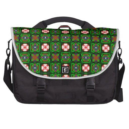 Crafty Textile Pattern Laptop Bag