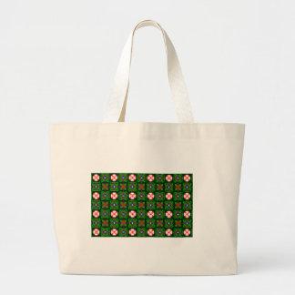 Crafty Textile Pattern Large Tote Bag
