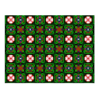Crafty Textile Pattern Postcard