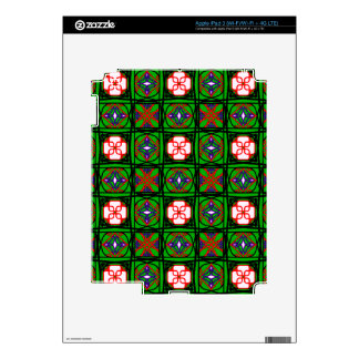 Crafty Textile Pattern Skin For iPad 3