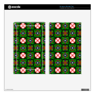 Crafty Textile Pattern Skins For Kindle Fire