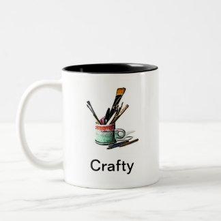 Crafty Two-Tone Coffee Mug