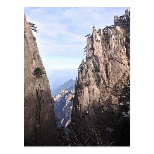 Crag in a mountain postcard