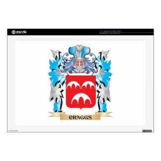 """Craggs Coat of Arms - Family Crest 17"""" Laptop Decal"""