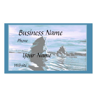 Craggy Coastline Business Card Templates