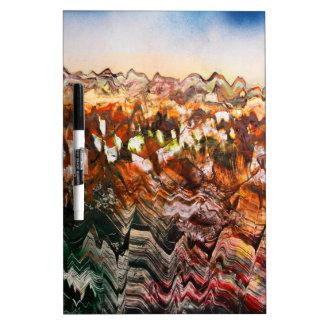Craggy Landscape Dry Erase Board