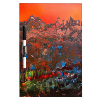 Craggy Mountain Sunset Dry Erase Board